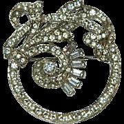 Art Deco Diamante Sophisticate Elegance Rhinestone Brooch