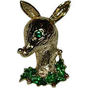 Festive Rudolph the Reindeer Christmas Brooch by Gerry's