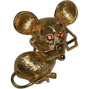 Book Piece! Avon Whimsical Reading Glass Mouse