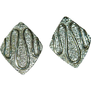 """Sarah Coventry """"Silvery Nile"""" Earrings"""