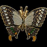 Spain Cloisonne Enamel Butterfly Brooch