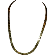 Runway Monet! Liquid Gold Egyptian Revival Necklace