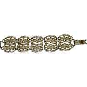 Gorgeous Bold Egyptian Revival 5 Link Bracelet