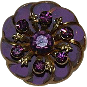 Sparkling Purple Rhinestone Enamel Pin Wheel pin