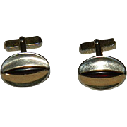 Vintage Swank Red Cat Eye Cufflinks