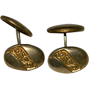 Early 1900's Brass Swivel Cuff Links