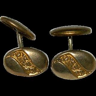 Early 1900's Brass Swivel Cuff Links