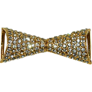 Smashing Art Deco Rhinestone Belt Buckle