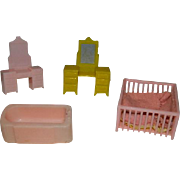 Marx Toys Hard Plastic Doll House Furniture MIniatures
