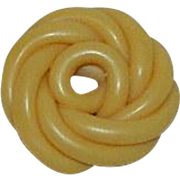 Fabulous Early Celluloid Twist Ribbon Button