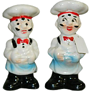 Chubby French Chefs Salt & Pepper Shakers