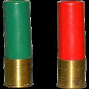 Rare! Shotgun Shells Bullets Salt & Pepper Shakers for Cabin ~ Hunters