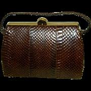 1930 Lizard Skin Handbag Pocket Book Purse