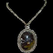 "Navajo Jasper ""Cosmos"" Custom Made Pendant on Sterling Silver Chain"