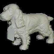 Rare Goebel Spaniel Dog Figurine Germany ~ Unglazed