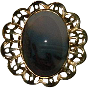 Vintage Scottish Picture Agate Brooch