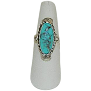 Stunning South West Style Campitos Sterling Silver Ring sz 7