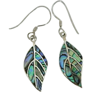 Sterling Abalone Shell Earrings Delightful!