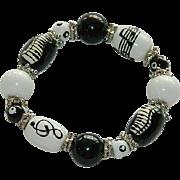 Fun Art Glass Musical Themed Stretch Bracelet