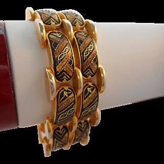 50% OFF Vintage Damascene Cuff Bracelet