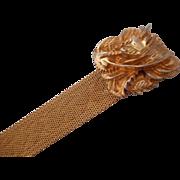 Vintage SIGNED Napier Mesh Bracelet Fancy Clasp