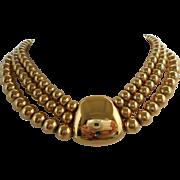 Vintage 1970's Gold Bead Choker