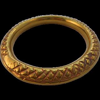 50% OFF Antique Victorian Hollow Brass Repousse Jingle Bracelet