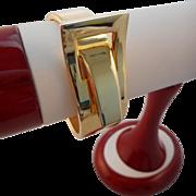 Vintage Victorian Revival Style Gold Belt Buckle Cuff Bracelet