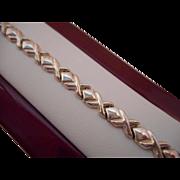 50% OFF Vintage 925 Sterling Silver Hugs and Kisses Bracelet