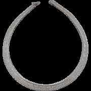 50% OFF  Vintage Brushed Pattern Omega Necklace