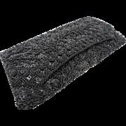 Vintage 1960's LaRegale Black Beaded Evening Clutch Bag