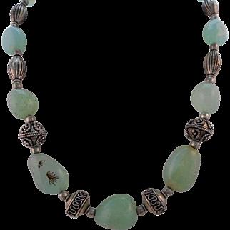 Vintage Unique Included Adventurine Bead Necklace