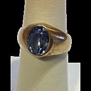 SALE. Deco Aquamarine Gold Ring Incredible Natural Stone