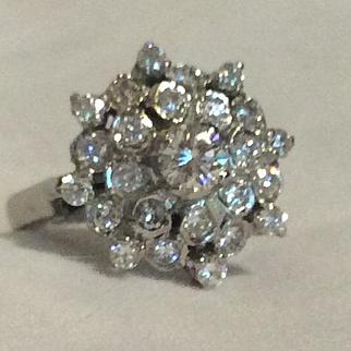 Deco Diamond Engagement Ring 18KT WG  1 Carat