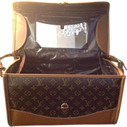 LOUIE VUITTON Travel Train Suitcase Monogram