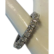 Platinum Diamond Eternity Band Ring 2.25 Carats Deco