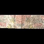 Early 18 th century court dress fragment, silk brocade, English