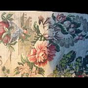 Mid 18 th century English silk woven brocade dress panel.