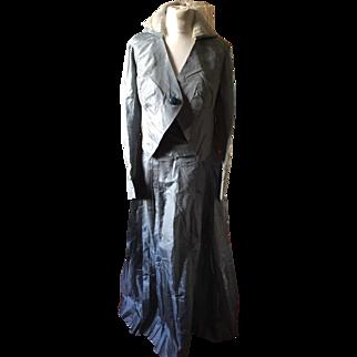 Edwardian silk suit .ladies .circa 1905. Document piece.