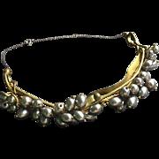Georgian tiara, pewter and base metal. Beautiful condition. Circa 1800.