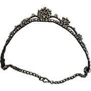 Georgian tiara, cut steel. Circa 1800. English . Wiltshire .