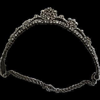 Georgian tiara, cut steel. Circa 1800. English . Wiltshire .