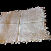 Early 19 th century damask napkins. Napoleon monogram and bee motif edging. 5 napkins .