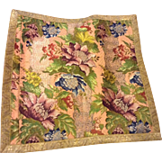 Early 18 th century brocade panel . English possibly Spitalfields. Perfect . Opulent.
