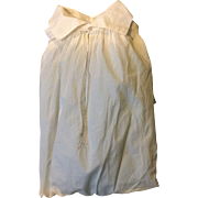 Circa 1800. Men's cotton nightshirt . English.embroidered panel.