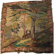 1920's hand worked wool embroidered large wall hanging. In the Fauve style. French.