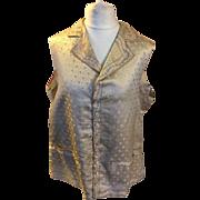 Georgian silk brocade men's waistcoat. Excellent condition . English.