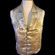 Early 19 th century brocade waistcoat. Men's . Possibly wedding waistcoat. For study. Beautiful silk brocade .