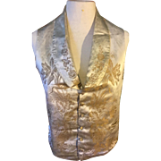 Early 19 th century brocade waistcoat. Men's . Possibly wedding waistcoat. For study. Beautiful silk brocade .