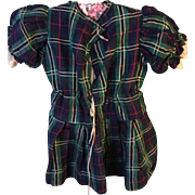 1860's Childs tartan day dress.